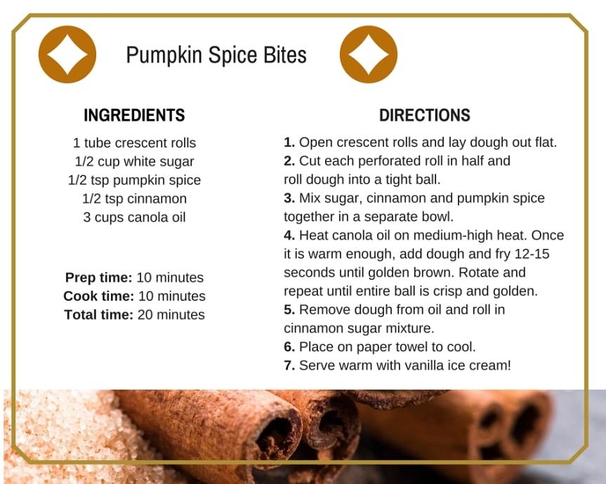Pumpkin Spice Bites Recipe