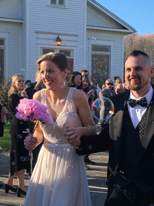 Kelly and Drew, now husband and wife!