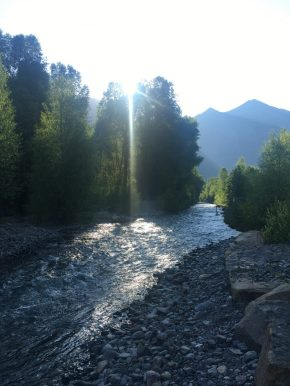 San Miguel River through Telluride, CO